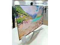 "Samsung UE65KU6400 65"" 4K HDR Ultra-HD Smart LED TV 1600 PQI Silver screen mirror."