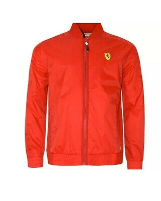 Men's Puma SF Ferrari Lightweight Jacket Rosso Corsa Wind Jacket Size M /