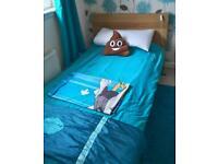 Ikea wood bed