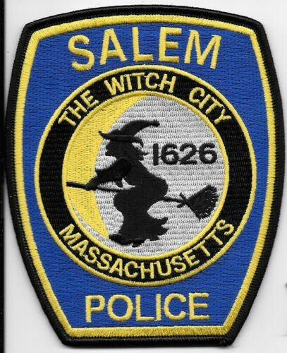 SALEM MASS MA POLICE THE WITCH CITY WITCH ON A BROOM SPD PD LOT OF 1 (FIRE)