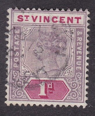 St Vincent - 1899 1d - SG68 -  Used (B9F)