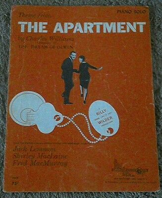 SHEET MUSIC THEME FROM THE APARTMENT JACK LEMMON SHIRLEY MACLAINE