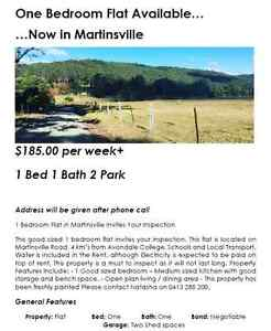 1 Bedroom Flat For Rent, Cooranbong/Martinsville Cooranbong Lake Macquarie Area Preview
