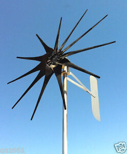 WIND TURBINE WIND GENERATOR 1600 WATT NEW COMMANDER 11 BLADE  24 VOLT AC 3/WIRE