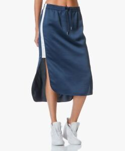 T by Alexander Wang / Size 4 / Satin Skirt in Midnight Blue  NWT