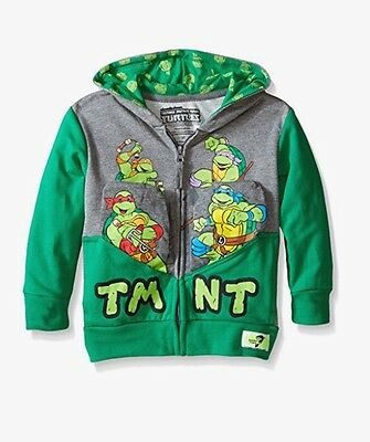 Teenage Mutant Ninja Turtles TMNT Pocket Frenz Zip-Up Hoodie Jacket Boys - Tmnt Zip Up Hoodie
