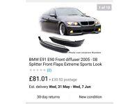 BMW E90 M SPORT TEC FRONT SPLITTER SE 3 SERIES M3 FAIRING KIT 320 325 330 335 BRAND NEW