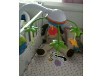 Bright stars musical cot mobile