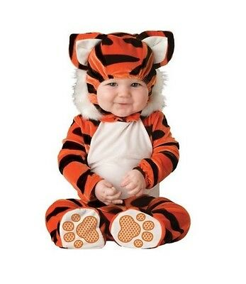 B&w Halloween Kostüme (Halloween Costume Baby Tiger Small 6-12 months Animal Outfit Orange B/W Jumpsuit)