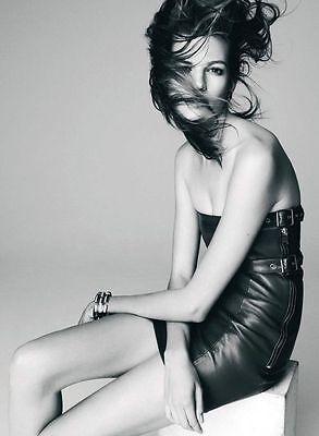 Saint Laurent Hedi Slimane Buckled Leather Bustier Strapless Dress Black FR 34