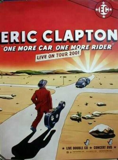 Eric Clapton live on tour 2001 promotional poster FLAWLESS NEW OLD STOCK