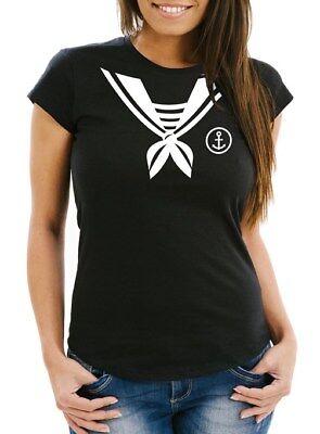 Damen T-Shirt Matrose Matrosin Sailor Fasching Fastnacht Kostüm Karneval