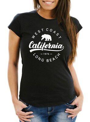 Damen T-Shirt California Republic Slim Fit Neverless®