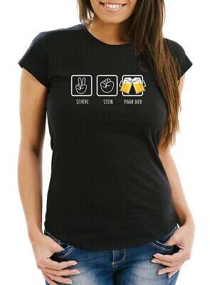 , Stein, paar Bier lustiges Trink Shirt Saufen Bier Party (Lustiges Paar)
