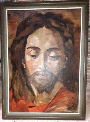 Jesus Christus Kopf Büste Ölbild Öl Leinwand Gemälde Ölgemälde 189 hoch x 140cm