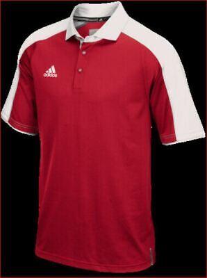 Nuevo adidas Climalite Mujer Coaches Polo Potencia AR4464 1850W Rojo Blanco L