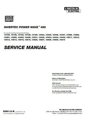 Lincoln Invertec Power Wave 450 Service Manual