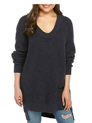 Free People Womens OB910486 Sweater Relaxed Navy Blue Size XS