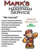 Mark's Property Maintenance Handyman Services Truck for Hire