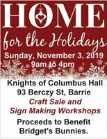 Home for the Holidays Craft Sale & Sign Workshop