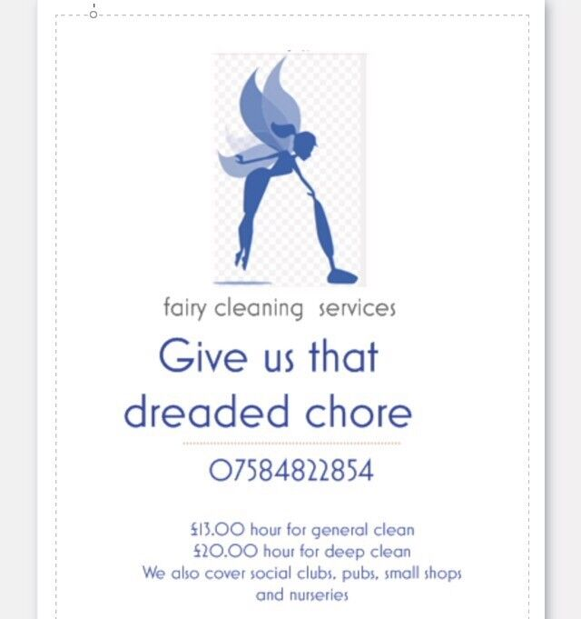 Fairy cleaning service domestic or commercial