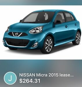 Nissan Micra SR 2015. For lease takeover.