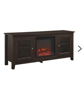 """Brand new tv stand with electric fireplace. Holds tvs up to 60"""""""