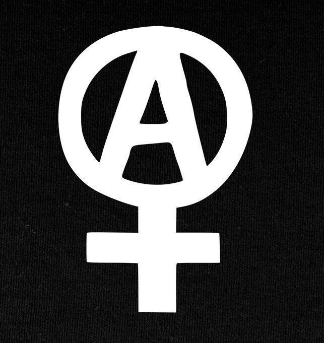 Anarcha Feminism - Patch gedruckt Antifa Fight Sexism Smash Homophobia