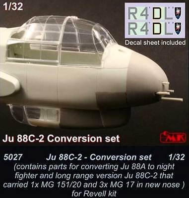 cmk Junkers Ju 88C-2 conversion set Revell Night Fighter 1:32 Modell-Bausatz kit