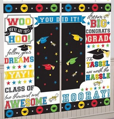 GRADUATION BANNER & FREE KEYCHAIN, POSTER SIGN BACKGROUND WALL DECORATION