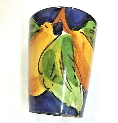 Vietri Pottery-Limoncello/Shot Glasses With Lemon.Made/Painted by hand in Italy