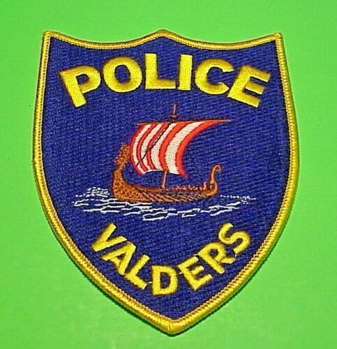 """VALDERS  WISCONSIN  WI  5"""" POLICE PATCH   FREE SHIPPING!!!"""