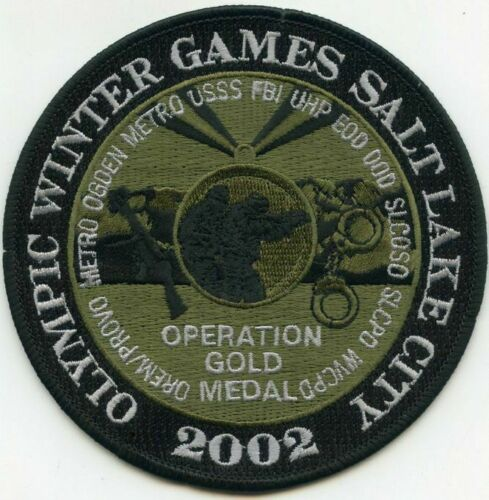 SALT LAKE CITY 2002 WINTER OPER GOLD MEDAL GREEN USSS FBI EOD OREM SLC (FIRE)