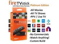 AMAZON FIRE TV STICK + LATEST KODI 17.6 + APPS
