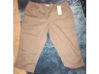 Cropped trousers, brand new, size 24
