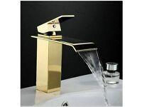 Modern Contemporary Gold/ Brass Bathroom Mixer Tap