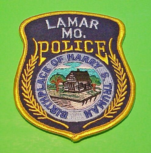 """LAMAR MISSOURI MO BIRTHPLACE OF HARRY TRUMAN 4 3/8"""" POLICE PATCH   FREE SHIPPING"""