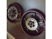 Yamaha r6 wheels & disc's