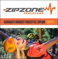 Be a zipline Guide at ZipZone!