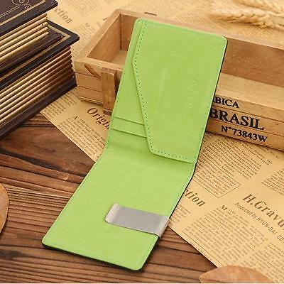 Mini Business Mens Purse Leather Magic Credit Card ID Holder Money Clip Wallet Y