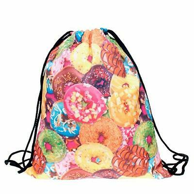 Fashion Unisex Emoji Backpacks 3D Printing Bags Drawstring Backpack