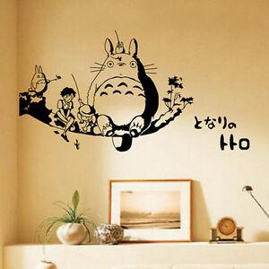 totoro wall stickers waterproof bedroom bed stickers cos b big ebay