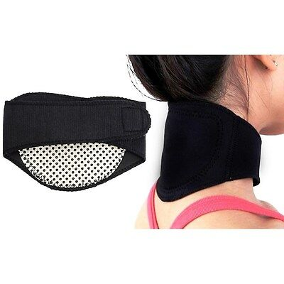 TOURMALINE THERMAL HEALTH PAIN RELIEF SELF-HEATING NECK BRACE PAD SUPPORT STRAP