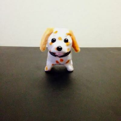 NEW KID'S BATTERY OPERATED BARKING WALKING WAGGING CUTE WHITE PUPPY DOG TOY