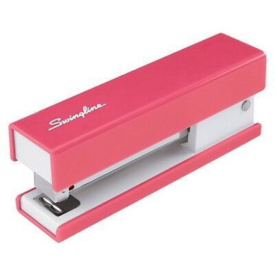 Swingline Runway Fashion 20-sheet Capacity Half Strip Stapler Solid Color Pink