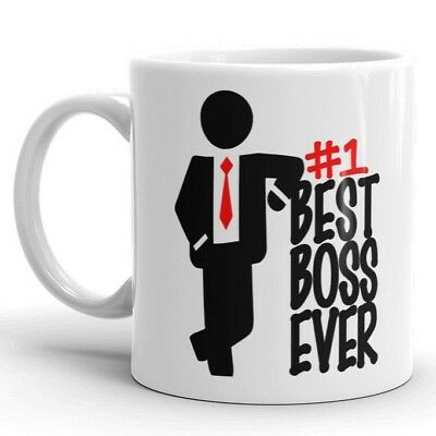 BEST BOSS EVER Coffee Mug #1 Boss Gift for Manager Funny Work Office Cup for
