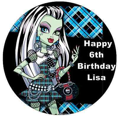 Monster High Frankie Stein Personalised Cake Topper Edible Wafer Paper 7.5