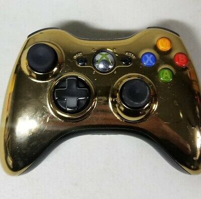 Official Original Microsoft Xbox 360 C-3PO Wireless Controller Star Wars Gold