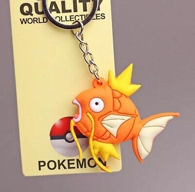 "Pokemon Magikarp Rubber Keychain 2"" US Seller - Garfield Keychain"