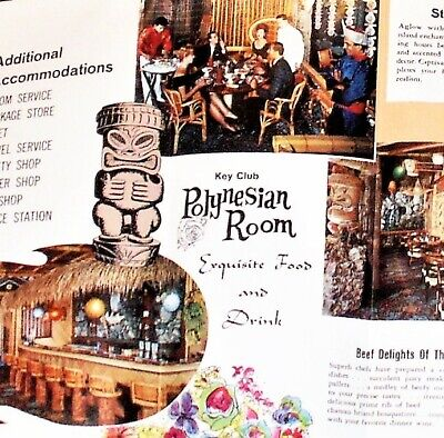 60's Ren Clark POLYNESIAN VILLAGE-TIKI Western Hills Hotel~Ft WORTH-Severed Head